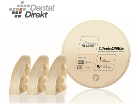 DD cube ONE® ML-multilayer. (HT+) extra translucentní, Bleach, 14mm